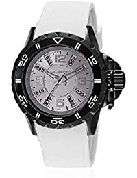 Custo CU064501 - Reloj con correa de piel para hombre, color gris