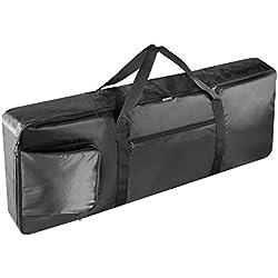 Neewer, Portátil acolchado, funda con bolsillos adicionales, asas de transporte y correas ajustables de mochila, de nylon duradero e impermeable, grande (61 teclas), color negro