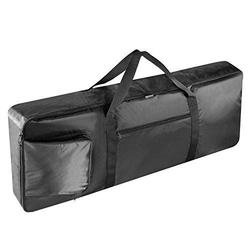 Neewer 76-Tasten-Keyboard-Tasche mit extra Taschen für E-Piano, aus strapazierfähigem und wasserdichte Nylon, einstellbare und beweglicher Rucksack-Bügel (schwarz)
