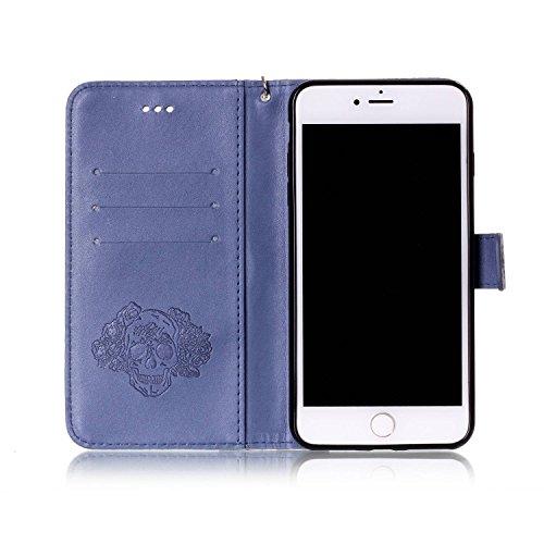Coque Cuir iPhone 7 Plus (5.5 pouces), Fermeture Aimantée de Motif Imprimé Étui Housse en Cuir Ultra-mince Avec La Fonction Stand pour Apple iPhone 7 Plus (5.5 pouces) Étui +Bouchons de poussière (5YY 12