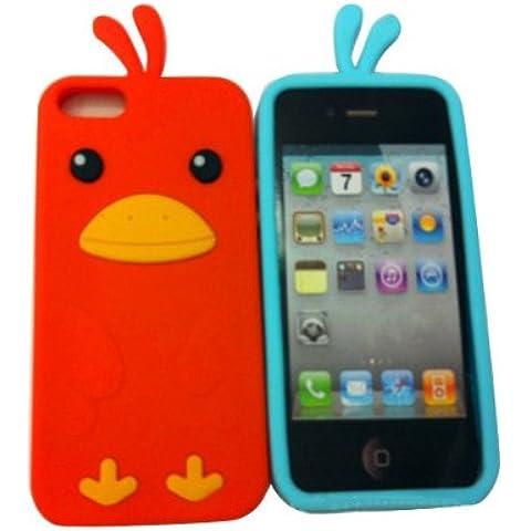 Polluelo lindo en forma de nuevo caso de protección para el iPhone 5 envío aleatorio.
