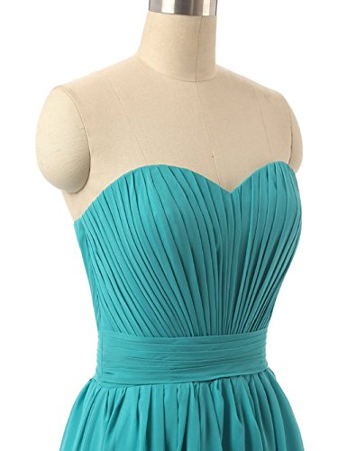 Fanciest Damen Chiffon Lang Brautjungferkleider Junior Wedding Party Dresses Green