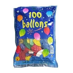 Rubies -  410009 - Ballons De Baudruche - Multicolores N°8 - 100 Pièces