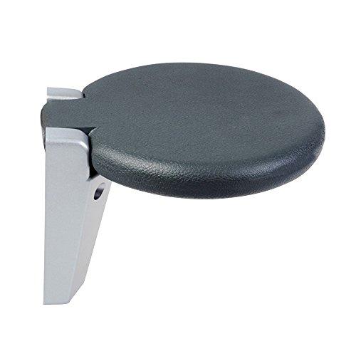 Faltende Wand / älterer Duschstuhl / Aluminiumwand-Stuhl / runder Wand-Schemel / Badewanne Hocker / Gangstuhl / wandändernder Wandstuhl / Multifunktionsfaltenhocker / Ladefähigkeit 130KG / 300 * 265mm