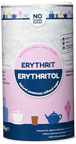 NO SUGAR SUGAR Erythrit Dose zuckerersatz kalorienfrei, 3er Pack (3 x 1 kg)