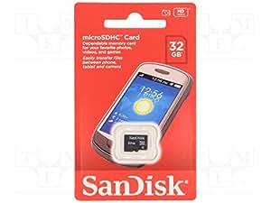 Carte Mémoire MicroSDHC SanDisk 32 Go Classe 4 (SDSDQM-032G-B35)
