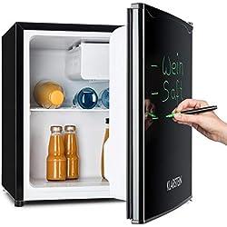Klarstein Spitzbergen Aca - Réfrigérateur, 40L, A+, 2 étagères, bac à glace, congélateur, marqueur sur la porte, noir