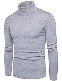 1f4fcba17d2d Celucke Herren Rollkragenpullover in Muskelshirt-Form,Winter Warme  Strickpullover Slim Fit Pullover Sweatshirt