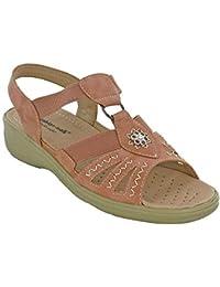92ad72b62a12 Cushion Walk Open Toe Lightweight Sandals Lisa Elasticated Womens