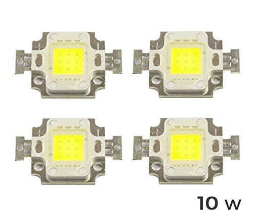 Packung mit 4 Ersatz-LED-Modulen, für LED-Scheinwerfer, kaltweiß, 6500K, 10Watt, von MWS