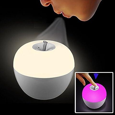 Everesta La nuit de lampe Le plus populaire pomme de veilleuses , Lampes de table,lampe tactile,Il est un de haute qualité pour le produits de conception sens , blanc seulement ou 7 couleurs couleurs lumière clignotante , fonctionnant sur batterie