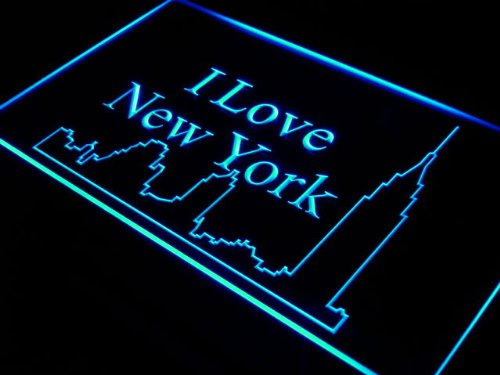 Enseigne Lumineuse j394-b I Love New York City Bar Decor Neon Light Sign