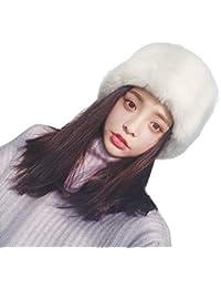 Eastery Berretti Cappello di Pelliccia Sintetica Pelliccia Donna Moda  Cappello Invernale Stile Semplice Caldo Morbido Copricapo fae91fee0d7