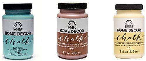 Plaid Folkart Home Decor Craie Peinture Ultra-Matte Lot de 4, matière synthétique, Multicolore, 18 x 6 x 10.7 cm