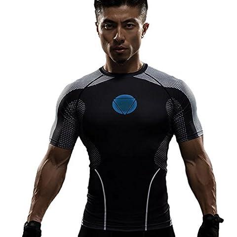 Iron Man Hot Toy V1 T-Shirt Armor (Mann) Size S