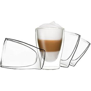 4x 310ml duos doppelwandige gl ser latte macchiato thermogl ser set mit schwebe effekt auch. Black Bedroom Furniture Sets. Home Design Ideas