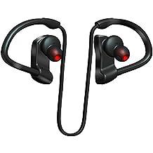 2017nueva venta caliente en oreja Auriculares Bluetooth mejor Wireless Deportes Auriculares con micrófono nivel 7impermeable ajuste seguro iPhone Android