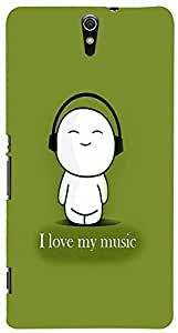 PrintVisa Music Cute Quotes Case Cover for Sony Xperia C5 Ultra