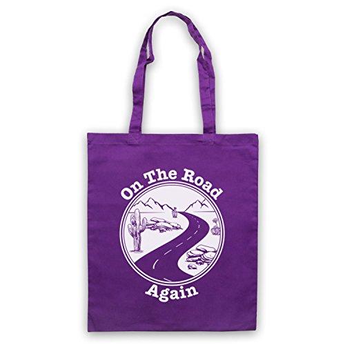 Sulla Strada Di Nuovo Viaggiando Slogan Itinerante Umhangetaschen Violett