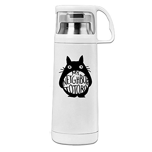 Mensuk Japanese Animated Fantasy Film Thermos Cup Mug With A Handle Vacuum Insulated Cup For Hot And Cold Drinks Coffee,Tea Travel Thermal Mug,14oz White