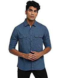 RUF & TUF Solid Blue Coloured Cotton Shirt
