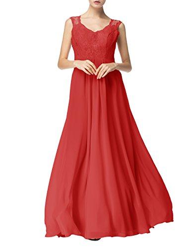Find Dress Sexy Robe de Soirée Longue Princesse Femme Fille Enfant Robe de Cocktail pour Femme Ronde Col en V sans Manches Robe Demoiselle d'Honneur Fille Grande Taille en Mousseline Rouge