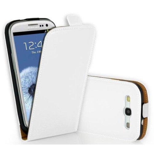 Saxonia Apple iPhone SE 5 5S Hülle Flip Tasche Case Hülle Schutzhülle Magnetverschluss Schwarz-Braun Weiß