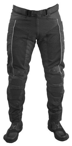 *Roleff Racewear Motorradhose Textil/Mesh, Schwarz, Größe XL*