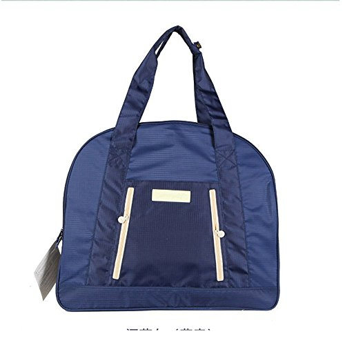 Fashion Sports Reisetasche Mummy Paket Große Kapazität Einkaufstasche Travel Essentials Schultertasche Tasche Handtasche, blau (Große Drawstring Handtasche)
