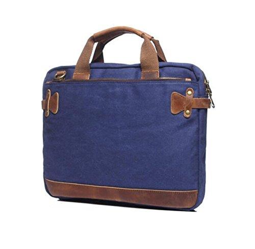 DJB/Canvas Laptop Tasche Herren Laptop Aktentasche treasure blue