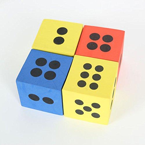 Preisvergleich Produktbild PIXNOR 12 Stück Schaumstoff Würfel Set für Würfelspiele (Zufällige Farbe)