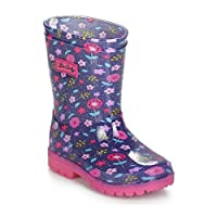 Be Only Lilas-Glitters-Flash Boots Girls Purple/Pink Wellington Boots