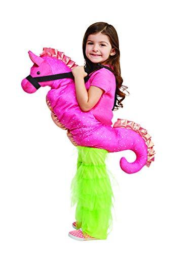 3 Seepferdchen Kostüm, Rosa, Größe 5-7 Jahre ()