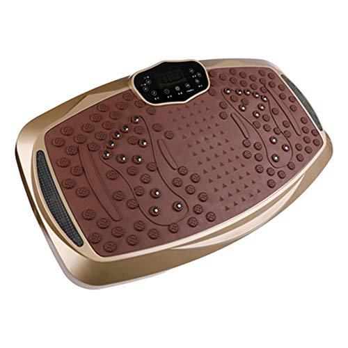 CWDXD Fitness Dual-Motor 3D Vibrationsplatte Schalldämpfer-Saugnapf unten, 3 große Erdbebenzone vorhanden, mit Bluetooth-Funktion,Red