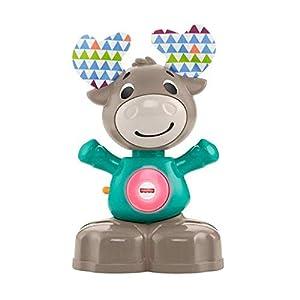 Fisher-Price-GHR20 Linkimals Musical Moose, Juguete Interactivo para bebé con Luces y Sonidos, Multicolor (Mattel GHR20)