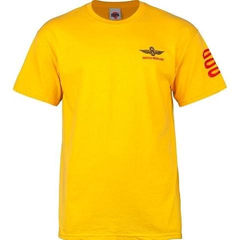 powell-peralta Bones Brigade Bomber T-Shirt, Herren damen, gold