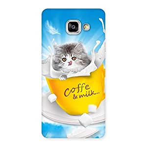 Gorgeous Coffee Kitty Back Case Cover for Galaxy A5 2016