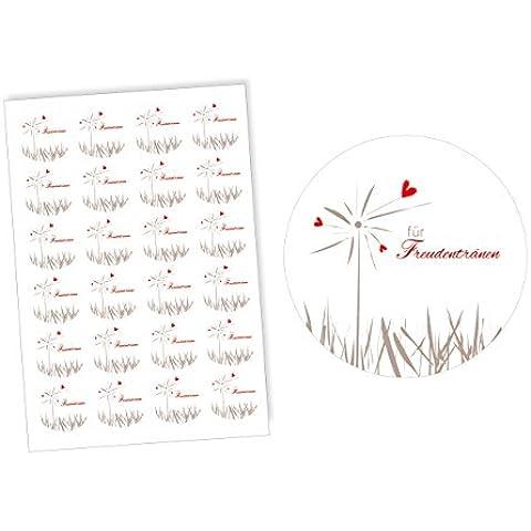 48boda pegatina con corazón–Alegría Tears decorativo para regalos, bodas, bodas, bodas, pegatinas