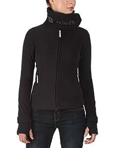 Bench Damen Sweatshirt Fleecejacke Funnelneck,Schwarz (Jet Black BK014-GY165), Gr. XS