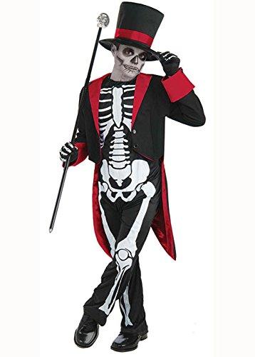 Kinder Herr Skelett Knochen Jangles Kostüm Large (Knochen Kostüme Skelett)
