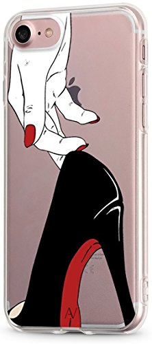 AVANA iPhone 7/iPhone 8 Hülle Schutzhülle Flexibles Case Etui Schutz Durchsichtige Tasche Transparente Silikon + TPU Schale Apple Dünne Muster Handyhülle Clear Cover Motiv (High Heels) (High 7 Heels)