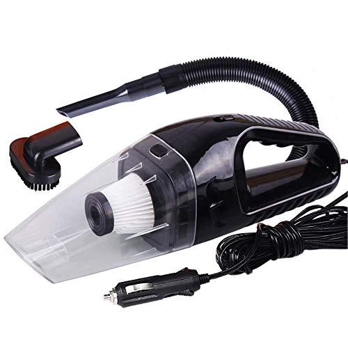 CHOME Auto-Staubsauger, nass und trocken Dual-Use-Power-Auto-Staubsauger mit 5M Netzkabel für Heimtierhaar-Krümel,Black -