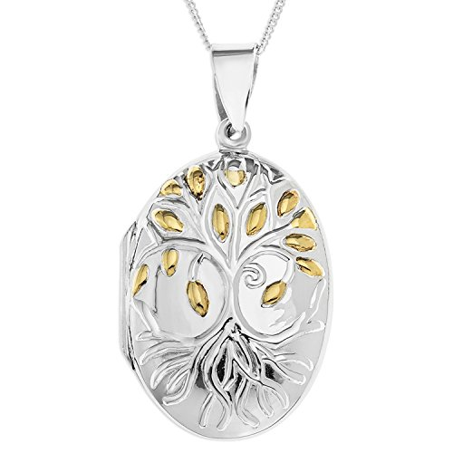 ornami-sterling-silver-and-gold-plated-family-tree-design-oval-locket-on-46cm-chain