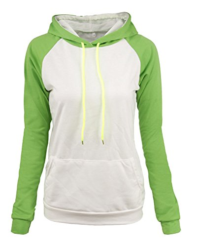 Femme Casual Pull Hooded Pullover Tops Casual Outerwear Sweat-Shirt À Capuche Vert