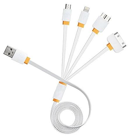 Multi Charger, 4 en 1 USB multiple de charge Connecteur