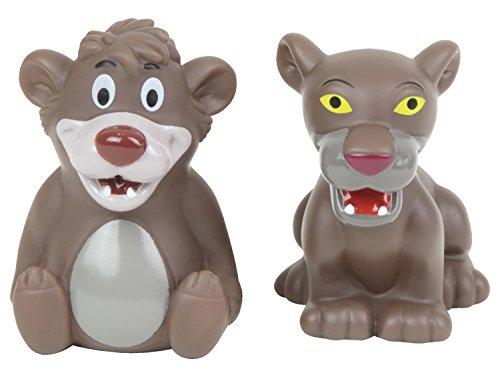 Lena 65515 - Wasserspritztiere Disney's Dschungelbuch 2er Set, mit Spritzfiguren Balu und Baghira, Badespielzeug Set mit 2 Wasserspritzer für Kinder ab 1 Jahr, Wasserspielzeug Set mit Spritztieren