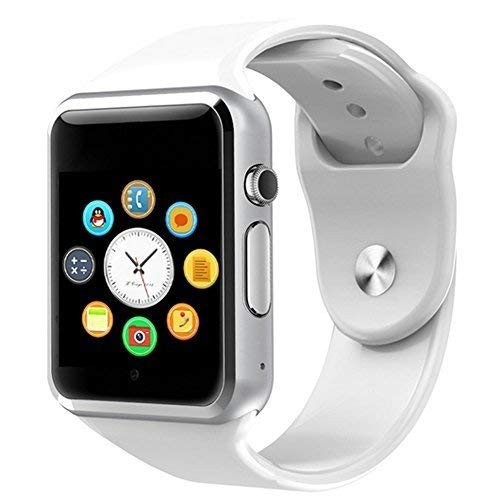 JOKIN White Smart Watch A1 Bluetooth Smartwatch Compatible with All Mobile Phones for Boys and Girls