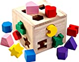 Jaques of London - Shape Sorter - Perfect Wooden Toys for 1 2 3 Year Olds - Since 1795