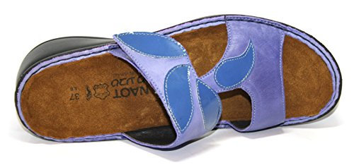 Naot , Chaussons Mules femme Beige - violet