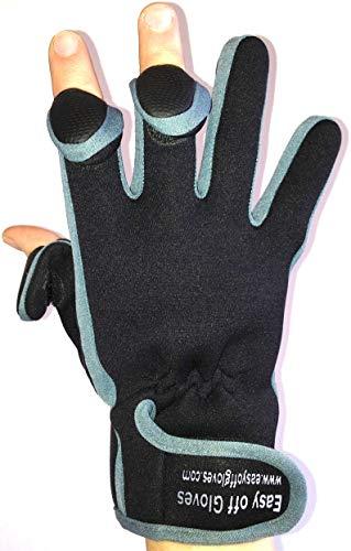 Neopren-Spezialist (Fold-Back Finger Tips) Handschuhe von Easy Off Handschuhe - Ideal für Reiten, Schießen, Angeln, Fitness, Gewichtheben, Gartenarbeit, Fotografie und General Work Wear - Größe 9 Mobile Office Für Blackberry
